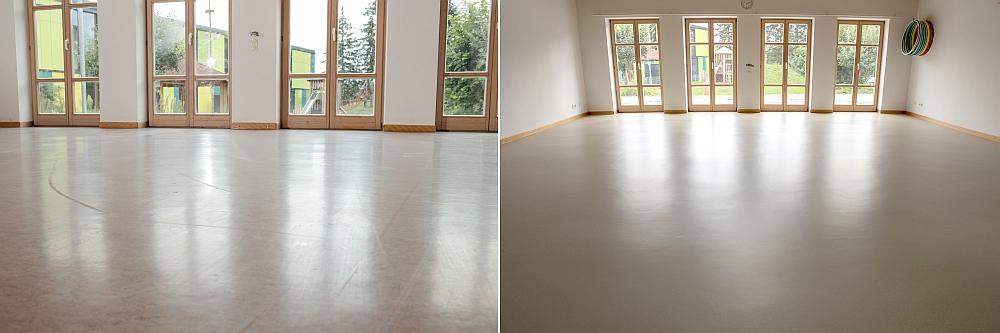 kinderdagverblijf Duitsland renovatie linoleumvloer