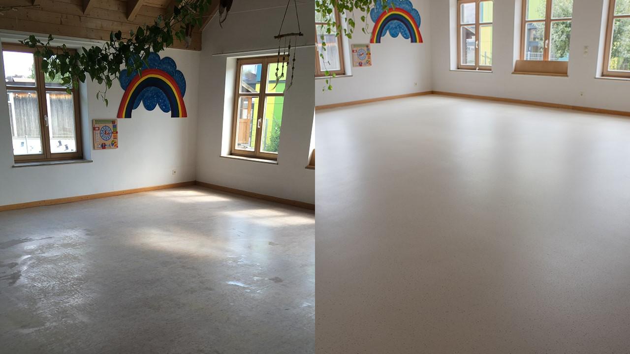 Renovatie linoleumvloer Duitsland