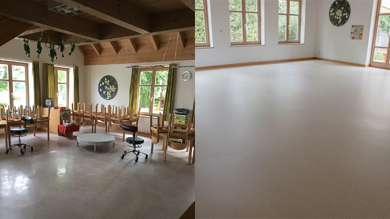 Linoleumvloer Duitsland gerenoveerd